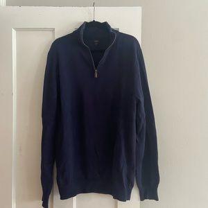 J Crew Tall quarter zip sweater